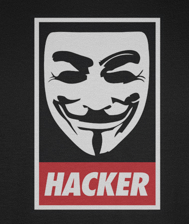 Anonymous 'Hacker' Obey style t-shirt
